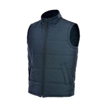 安大叔 防寒马甲,深蓝色,防水PU布+保温棉,A664-3XL(180-185)