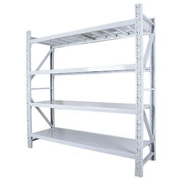 Raxwell 層板貨架主架,4層,300kg,尺寸(長×寬×高mm):1500×600×2000,灰白色,安裝費另詢