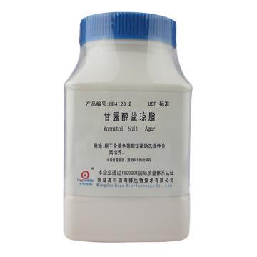 海博生物 甘露醇盐琼脂培养基(USP)(Mannitol Salt Agar),250g,用于金黄色葡萄球菌选择性分离培养,