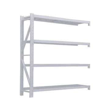 Raxwell 層板貨架副架,4層,500kg,尺寸(長×寬×高mm):1500×600×2000,灰白色,安裝費另詢