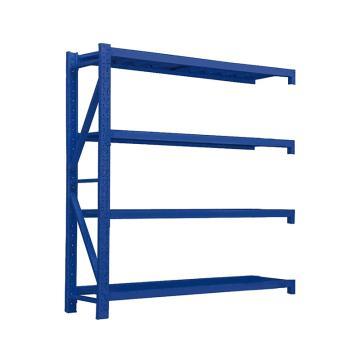 Raxwell 層板貨架副架,4層,500kg,尺寸(長×寬×高mm):1500×600×2000,藍色,安裝費另詢