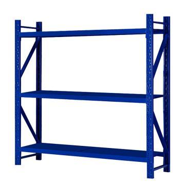 Raxwell 層板貨架主架,3層,200kg,尺寸(長×寬×高mm):2000×600×2000,藍色,安裝費另詢