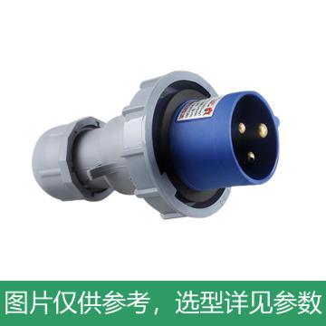 德力西DELIXI 工业插头 DEP2-0132,DHADEP20132U,IP67 16A 3芯 250V