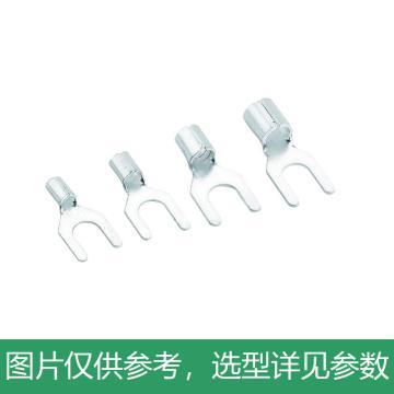 德力西DELIXI 叉形冷压端子(镀银),UT2.5-4,UT205M4HY,1000只/包