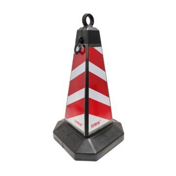 安賽瑞 方尖路錐,紅白相間,原生橡膠底座,360×360×700mm,11207