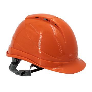 Raxwell Breathe安全帽,橘黄色,耐低温电绝缘阻燃,8点式锁扣,ABS,RW5109