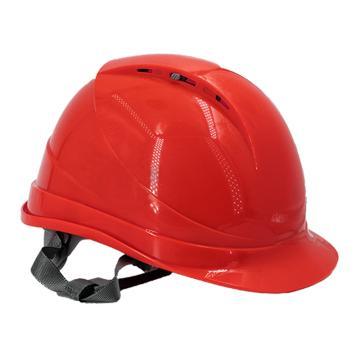 Raxwell Breathe安全帽,红色,耐低温电绝缘阻燃,8点式锁扣,ABS,RW5106