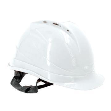 Raxwell Breathe安全帽,白色,耐低温电绝缘阻燃,8点式锁扣,ABS,RW5107