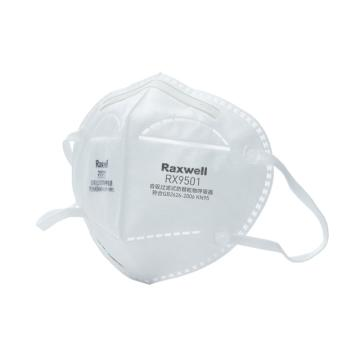 Raxwell 防塵口罩,RX9501(單片裝),KN95 折疊型耳帶式,25枚/盒