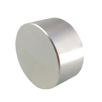 雄楚 釹鐵硼強磁圓形,30mm×10mm,材料牌號N35,磁力2800GS
