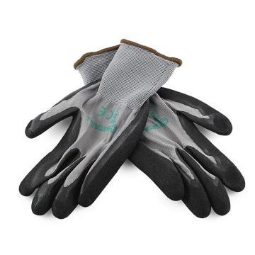 世達 雙層丁腈磨砂掌浸手套9#,FS0602