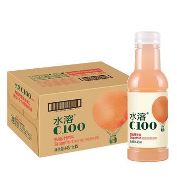 農夫山泉 水溶c100,445ml*15瓶 西柚味 箱裝(按箱起售)