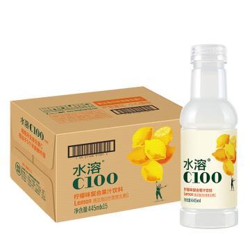 農夫山泉 水溶c100,445ml*15瓶 檸檬味 箱裝(按箱起售)