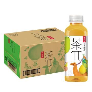 農夫山泉 茶派柚子綠茶,500ml*15瓶 箱裝(按箱起售)