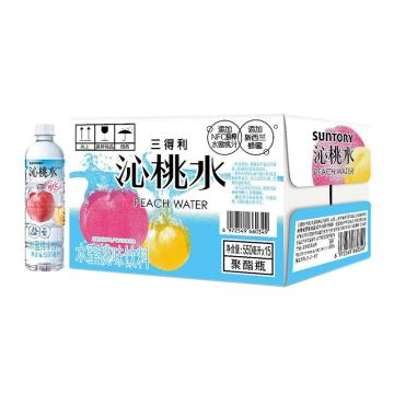 三得利 沁桃水,500ml*15瓶 箱裝(按箱起售)
