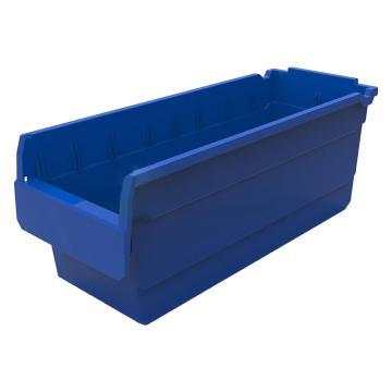 力王 貨架物料盒,500*200*200mm,全新料,不含分隔片,SF5220-藍色,單位:個