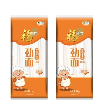 福臨門 妙惠家系列 勁面掛面塑包,1000g 勁滑清香 飽滿柔韌 中糧出品 (一件代發)