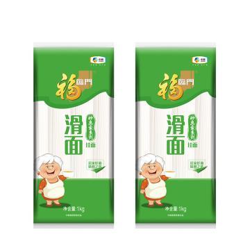 福臨門 妙惠家系列 滑面掛面塑包,1000g 勁滑清香 飽滿柔韌 中糧出品 (一件代發)
