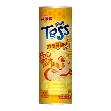 上好佳 醇脆罐裝薯片,100g*24袋 蜂蜜黃油味 箱裝