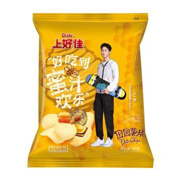 上好佳 田園薯片,80g*12袋 蜂蜜黃油味 箱裝