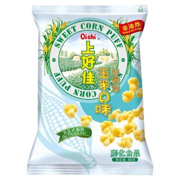 上好佳 田園泡,80g*12袋 玉米口味 箱裝