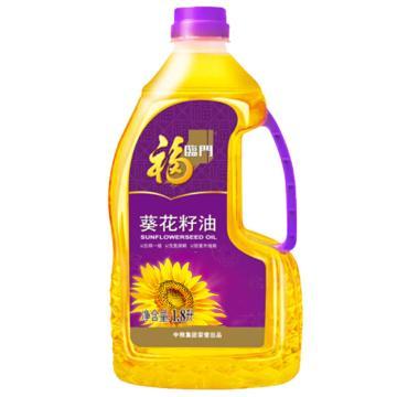 福臨門 壓榨一級葵花籽油,1.8L 中糧出品
