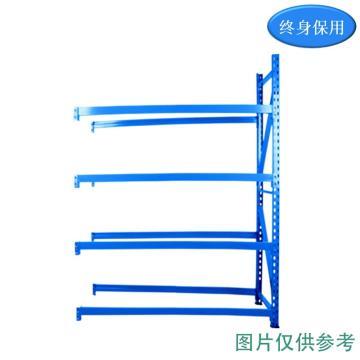 Raxwell 5層中型貨架副架(2板4加強筋),200kg,尺寸(長*寬*高mm):2000*600*2000,藍色,安裝費另詢