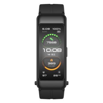 華為手環B6 運動手環 藍牙耳機/心率監測/觸控/遙控拍照/掃碼支付/Android&IOS 運動款曜石黑FDS-B19
