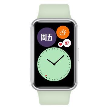 華為 WATCH FIT 華為手表 運動智能手表方形 薄荷綠 TIA-B19
