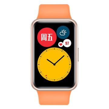 華為 WATCH FIT 華為手表 運動智能手表方形 蜜瓜橙 TIA-B19