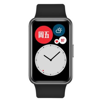 華為 WATCH FIT 華為手表 運動智能手表方形 曜石黑 TIA-B19