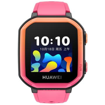 華為 兒童電話手表3s 4G全網通/八重精準定位/學習助手 蜜桃粉 NEO-AL10