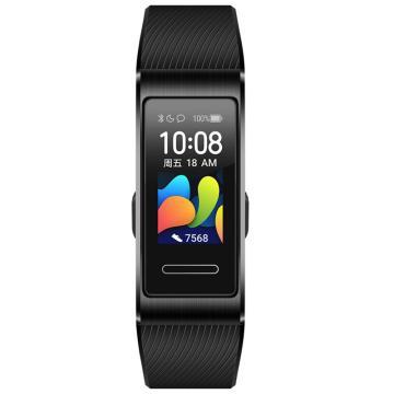 華為手環4 Pro 運動手環 NFC智能刷卡/血氧檢測/觸控彩屏 曜石黑 TER-B29S