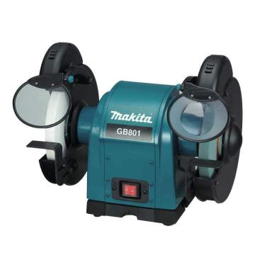 牧田makita 550W臺式砂輪機拋光機打磨機,砂輪直徑205mm ,回轉數2850,GB801