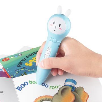 紐曼兒童益智玩具智能點讀筆 英語幼兒wifi故事機寶寶雙語早教機 點讀學習機機器人 DW18藍啟蒙版