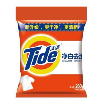 汰渍净白洗衣粉,260克,20包/箱 单位:包
