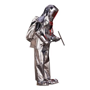 雷克蘭Lakeland 300-L,接近式隔熱服,包括:頭罩,上衣,褲子,靴子,手套,產品袋,背帶