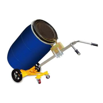 Raxwell 450Kg4輪油桶搬運小車,Φ250橡膠大輪 Φ75萬向PU輔助支承輪(拆卸發運自行安裝),RHMC0070