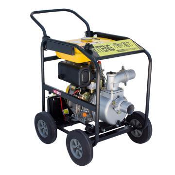 伊藤動力 3寸柴油機水泵帶輪子電啟動YT30DPE-2