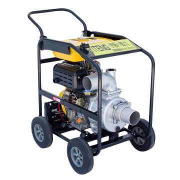 伊藤動力 4寸柴油機水泵帶輪子電啟動YT40DPE-2