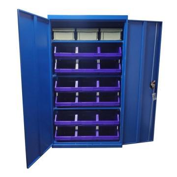 Raxwell 藍色置物柜(三層板),尺寸(長*寬*高mm):1000*500*1800,含零件盒和周轉箱