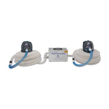 海固 彩屏智能型雙人電動送風式長管呼吸器,總長100米,HG-DHZK20AH6.0A(標配)