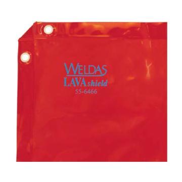 威特仕 焊接防護屏,55-6466,橙紅色高透視防護屏 1.74*1.74m