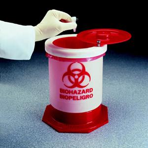 生物危险废品容器,聚丙烯,57L,15加仑容量