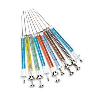 CrossLab syringe, 10uL, removable needle, 50mm, 26 gauge, cone tip, V-B