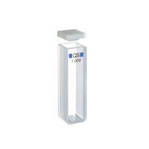 常量矩形比色皿,石英,PTFE 盖,1 mm 光程,350 µL,适用于 Agilent 8453 紫外-可见分光光度计