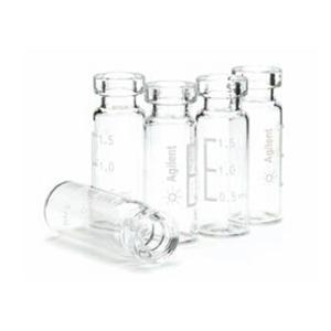 样品瓶,钳口,透明,经认证,2 mL,1000/包。样品瓶规格:12 × 32 mm(11 mm 瓶盖)1000只