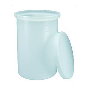 NALGENE带盖的重型圆桶罐,7-1/2加仑