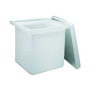 NALGENE方形罐(带盖),高密度聚乙烯,15加仑容量,Lx Wx D,18x 12x 18英寸