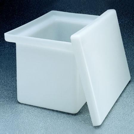 NALGENE方形罐(带盖),聚丙烯,11加仑容量